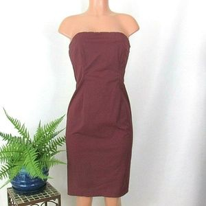 J. Crew Stretch Strapless Dress Purple Fitted